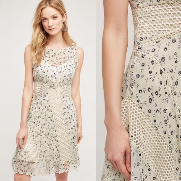 abd283314020c Anthropologie Dresses & Skirts - Floreat Windswept Lace cream floral dress